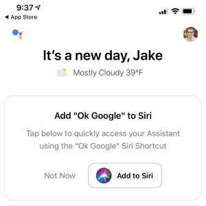 integrate google assistant and siri