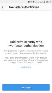 افزایش امنیت پیج اینستاگرام