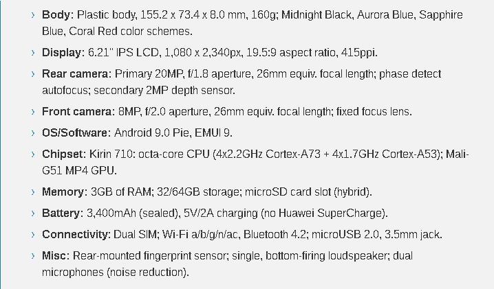 Huawei P Smart 2019 نقد و بررسی